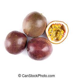 Passion fruit Passiflora Edulis - Fruit of Passiflora Edulis...