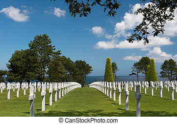 Graves and the ocean - Graves overlooking the atlantic ocean...