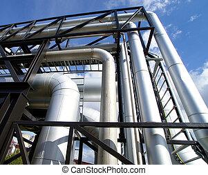 industrial pipelines - industrial pipelines on pipe-bridge...