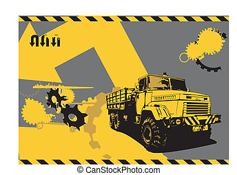 vintage truck - vector illustration of vintage truck in a...