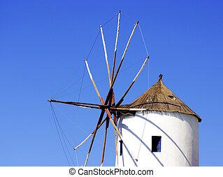 Santorini windmill - One of the windmills on the Greek...