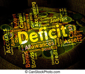 Deficit Word Means Bad Debt And Deficiency - Deficit Word...