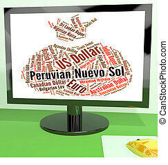 Peruvian Nuevo Sol Shows Foreign Exchange And Coin -...