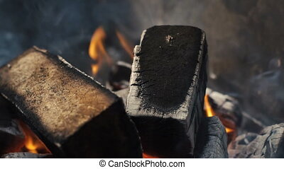 Wooden Bricks in Fire