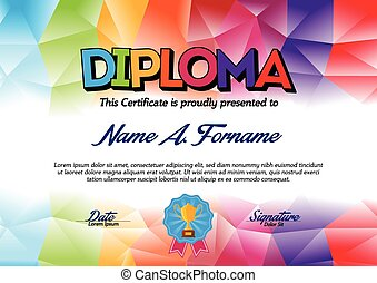 Diploma for Children.