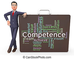 Competence Words Represents Capability Aptitude And...