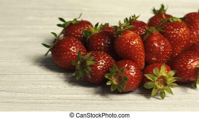 Strawberry on White Table