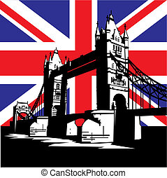 London Bridge - vector image of British and london symbols...