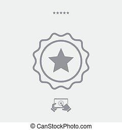 Star vector web icon