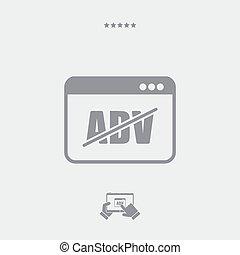 Block ADV concept icon