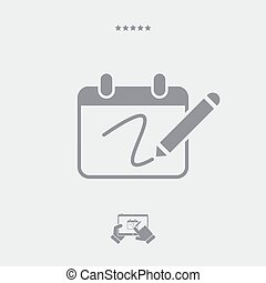 Notepad and pen icon