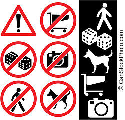 prohibition signs - range of prohibition signs Labeling