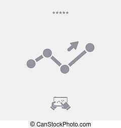 Financial increase report icon