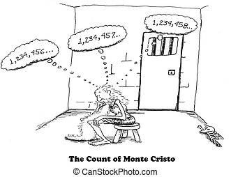 Counting - Cartoon showing the boredom in jail cells