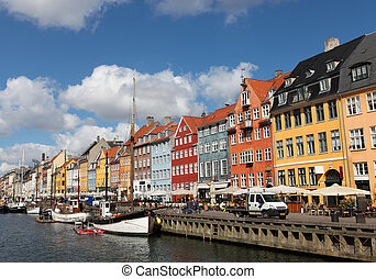 Nyhavn in Copenhagen, Denmark - one of the most popular...
