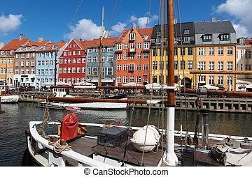 Nyhavn, Copenhagen - Nyhavn in Copenhagen, Denmark - one of...