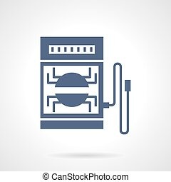 Electrical tester glyph style vector icon - Combined...