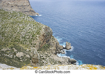 mediterranean, views of Cape formentor in the tourist region...