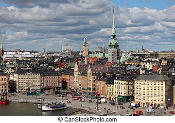 Gamla Stan, Stockholm - The Old Town (Gamla Stan) of...