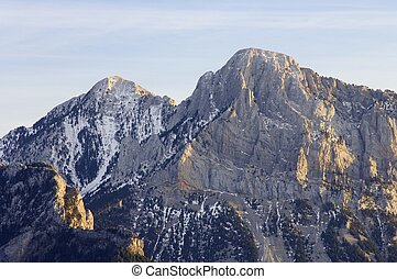 peaks - rocky peaks in winter, Pyrenees, Spain