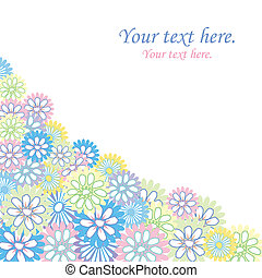 Floral card with sample text