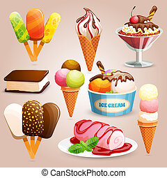 Ice cream set - Highly detailed ice cream set with choc-ice,...