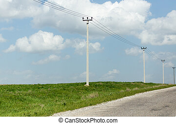 power poles in nature