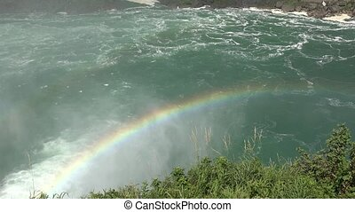 Rainbow on River or Channel