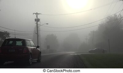 Street on Foggy Morning