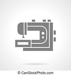 Professional sewing machine glyph vector icon - Professional...