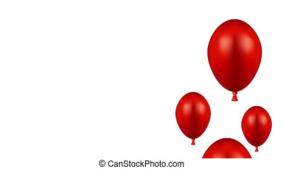 footage motion red ballons background 4K video Animation...