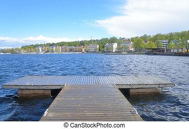 View of Lappeenranta city and Saimaa lake Lappeenranta -...