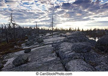 mount Vottovaara, Karelia, Russia - view from mount...