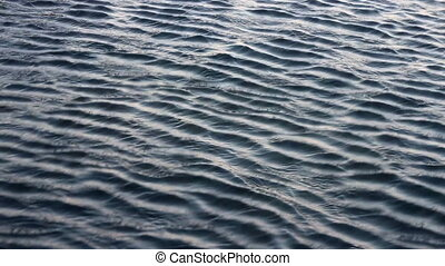 Beautiful surface. Ripples in water, different depths...