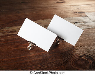 White business cards - Blank business cards Photo of blank...