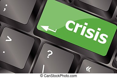 crisis risk management key showing business insurance...