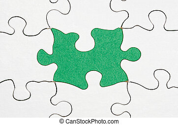 Missing puzzle piece - image of a puzzle with a missing...