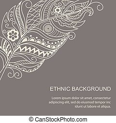 ethnic background in boho style - Hand drawn decorated...