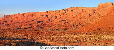 Vermillion cliffs - Panoramic view of Vermillion cliffs...
