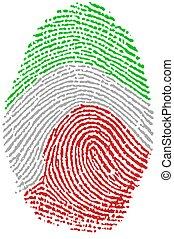 -, イタリア, 指紋