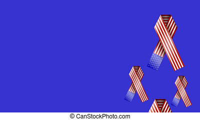 footage motion 4th july ribbon  background. 4K video
