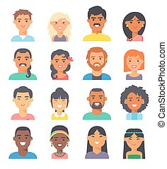 People nationality race vector illustration - Group people...