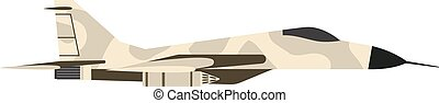Fighter airplane vector illustration. - Military fighter jet...