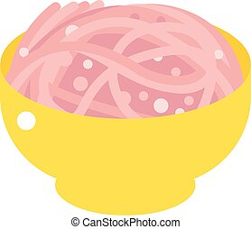 Chopped meat vector illustration.