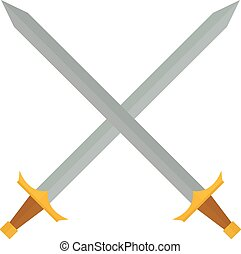 Cross swords vector illustration. - Crossed swords...