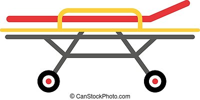 Stretcher vector illustration - Vector colored flat design...