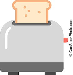 Toaster and bread vector illustration - Toasts flying out of...