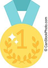 One number medal vector illustration.