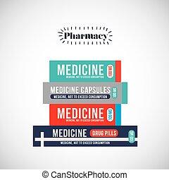 pharmacy store design - pharmacy store design, vector...