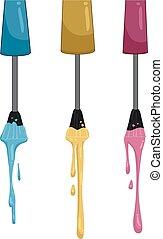Nail Polish Drip - Illustration of Nail Polish Dripping from...